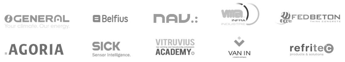 General - Belfius - Nav - Vma - Fedbeton - Agoria - Sick - Vitruvius - Van In - Refritec